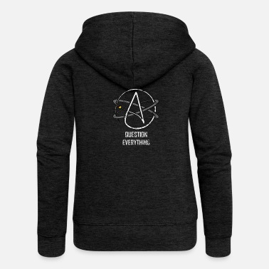 Ateísmo Ateo Logo Question All Science Atom - Chaqueta con capucha premium mujer