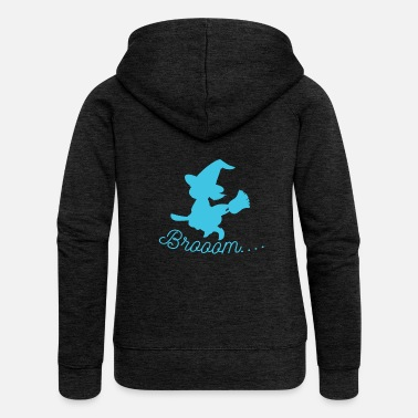 Witch Witch - Witch Broom - Women's Premium Zip Hoodie