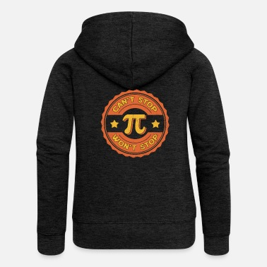 Pi Day Math Teacher Nerd Algebra Pi - Felpa con zip premium donna