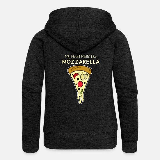 Pizza Hoodies & Sweatshirts - Pizza Pizza Pizza - Women's Premium Zip Hoodie charcoal grey