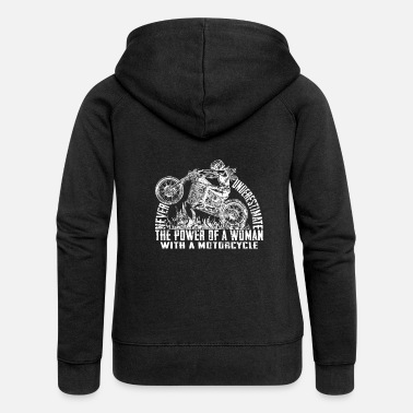 Motorcycle Club Never Underestimate The Power Of A Woman With A - Chaqueta con capucha premium mujer