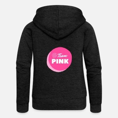 cf94db5a Breast Cancer Awareness Team Pink Breast Cancer fight against cancer loop -  Women'. Women's Premium Zip Hoodie