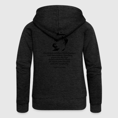Nietzsche Nietzsche: The democratic institutions are - Women's Premium Hooded Jacket