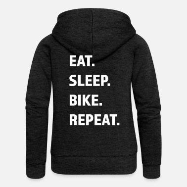 Cycling Cycling with Renner Mtb gift idea for bike tour - Women's Premium Zip Hoodie