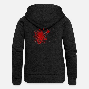 Splatter Blood splatter splatter Halloween blood spatter - Women's Premium Zip Hoodie