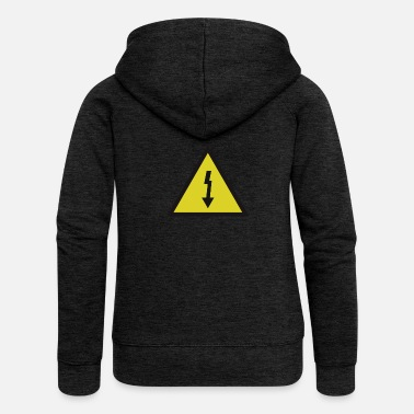 Danger Sign electricity danger signal - Felpa con zip premium da donna