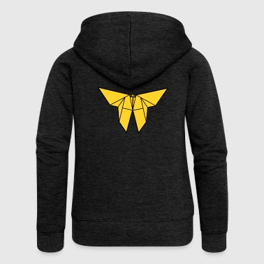 origami paper plane paper airplane9 - Women's Premium Hooded Jacket