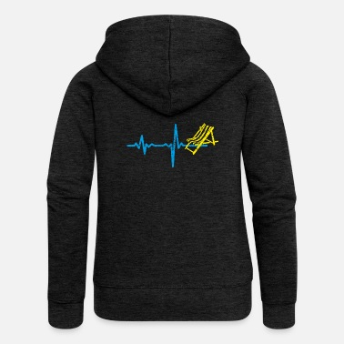 Deckchair Gift heartbeat holiday deckchair - Women's Premium Hooded Jacket