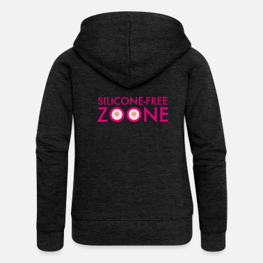 Silicone Silicone-Free Zoone No silicone Breasts | operating room - Women's Premium Hooded Jacket