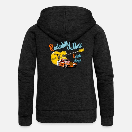Rockabilly Pullover & Hoodies - Rockabilly - Frauen Premium Kapuzenjacke Anthrazit