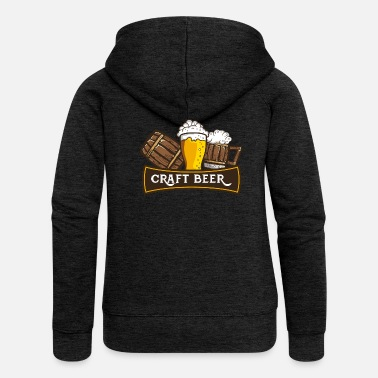 Craft Beer Craft Beer Crafted Beer - Women's Premium Hooded Jacket