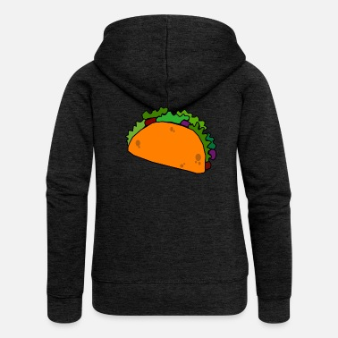 Taco Burrito Mexican Food / TexMex Lovers - Felpa con zip premium donna
