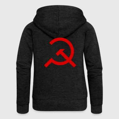 Simple Hammer and Sickle - Women's Premium Hooded Jacket