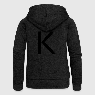 Alphabet Alphabet K - Women's Premium Hooded Jacket
