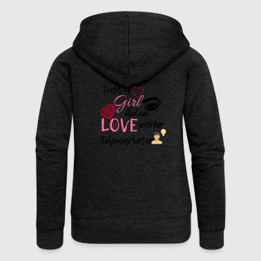 Just a girl that's in love with her telemarketer - Women's Premium Hooded Jacket