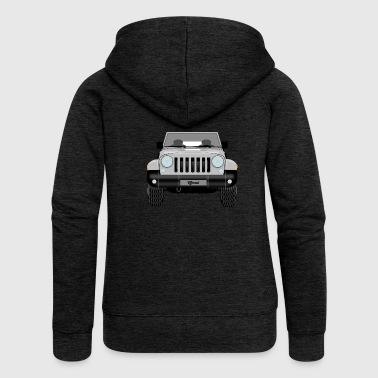 Jeep silver - Women's Premium Hooded Jacket