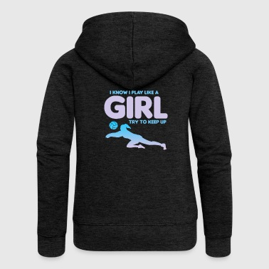 Volleyball volleyball player birthday gift - Women's Premium Hooded Jacket