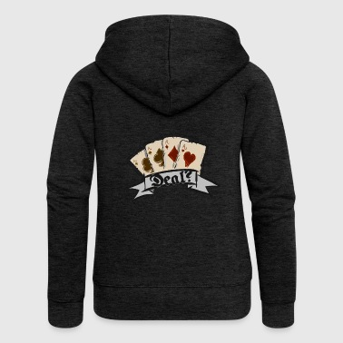 Poker Poker Card Game All in - Women's Premium Hooded Jacket