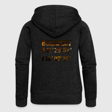 Budapest with coordinates - Women's Premium Hooded Jacket