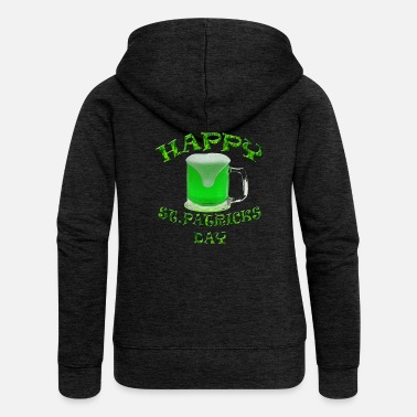 St Patricks Day St Patricks Day - Felpa con zip premium da donna