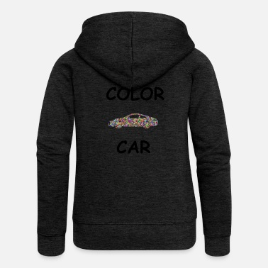 Sports Car COLOR CAR sports car - Women's Premium Hooded Jacket
