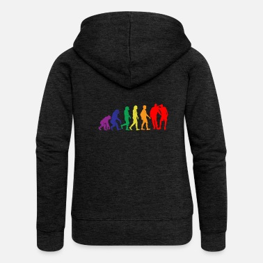 Evolution Evolution of LGBT Evolution - Women's Premium Zip Hoodie