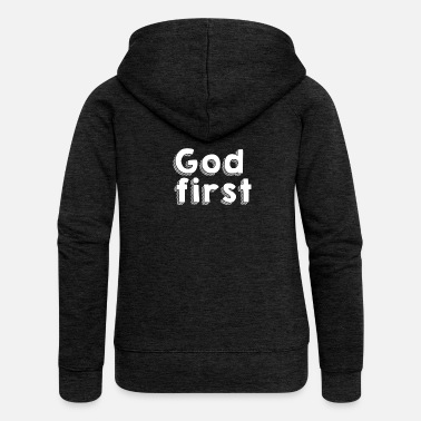 God first - Frauen Premium Kapuzenjacke