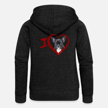 French French Bulldog - French Bulldog (Painting) - Women's Premium Hooded Jacket