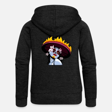 Mariachi Day of the Dead - Women's Premium Hooded Jacket