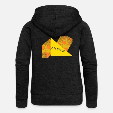 Field Equations Pythagoras theorem - Women's Premium Zip Hoodie