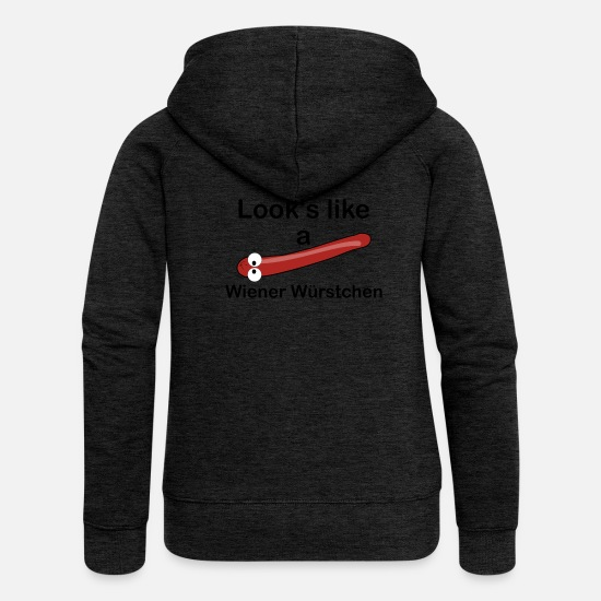 Gift Idea Hoodies & Sweatshirts - Wiener sausages - Women's Premium Zip Hoodie charcoal grey