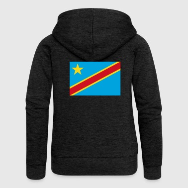 The Democratic Republic of the Congo flag - Women's Premium Hooded Jacket