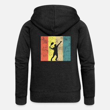 Vintage tennis retro vintage oldschool player player - Women's Premium Zip Hoodie