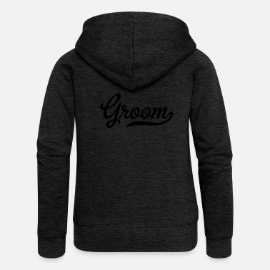 Bride And Groom groom - Women's Premium Hooded Jacket