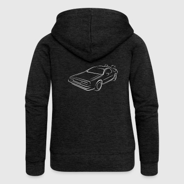 Sketch back to the future - Women's Premium Hooded Jacket