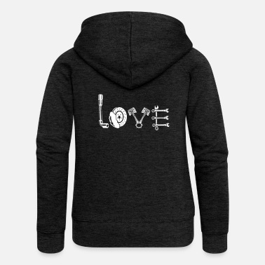 Car Car race car workshop love - Women's Premium Hooded Jacket