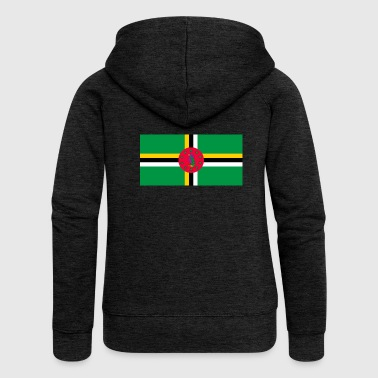 Dominica flag - Women's Premium Hooded Jacket