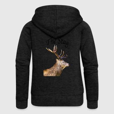 Stag - Women's Premium Hooded Jacket