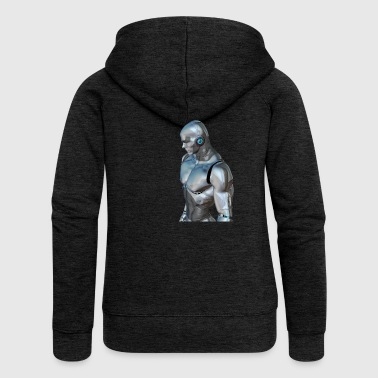 Silver cyborg - Women's Premium Hooded Jacket