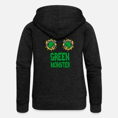 Comic Hero Green Monster Comic Hero - Frauen Premium Kapuzenjacke