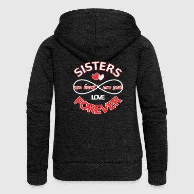Siblings Sisters forever - sibling love - Women's Premium Hooded Jacket