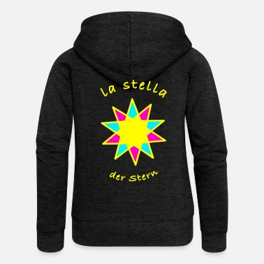 Italian The star in Italian - Women's Premium Zip Hoodie
