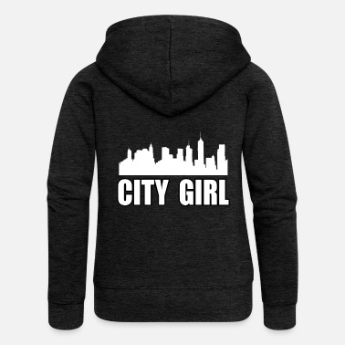 We Are Boston CITY GIRL - Women's Premium Zip Hoodie