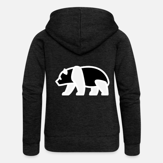 Gift Idea Hoodies & Sweatshirts - Panda - negative - Women's Premium Zip Hoodie charcoal grey
