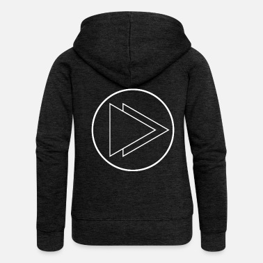 Fast Fast Forward icon - Women's Premium Zip Hoodie