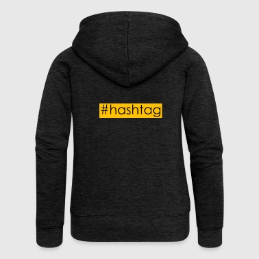 hashtag #hashtag - Women's Premium Hooded Jacket