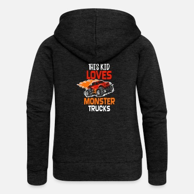 Monster Truck This kid loves Monster Trucks - Women's Premium Zip Hoodie