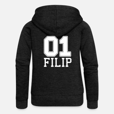 Filip Filip name first name - Women's Premium Zip Hoodie