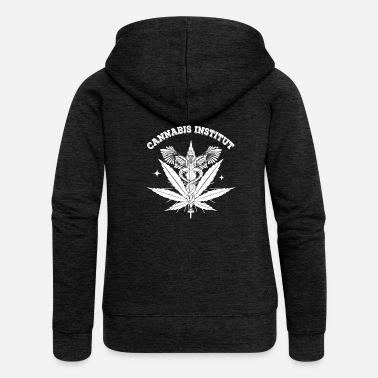 Cannabis cannabis Institute - Felpa con zip premium da donna