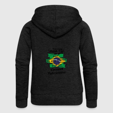 HOLIDAYS brazil brasil TRAVEL IM IN Brazil Coron - Women's Premium Hooded Jacket